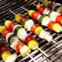 Halloumi and Vegetable Kebobs