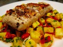 Tilapia with Pineapple Salsa